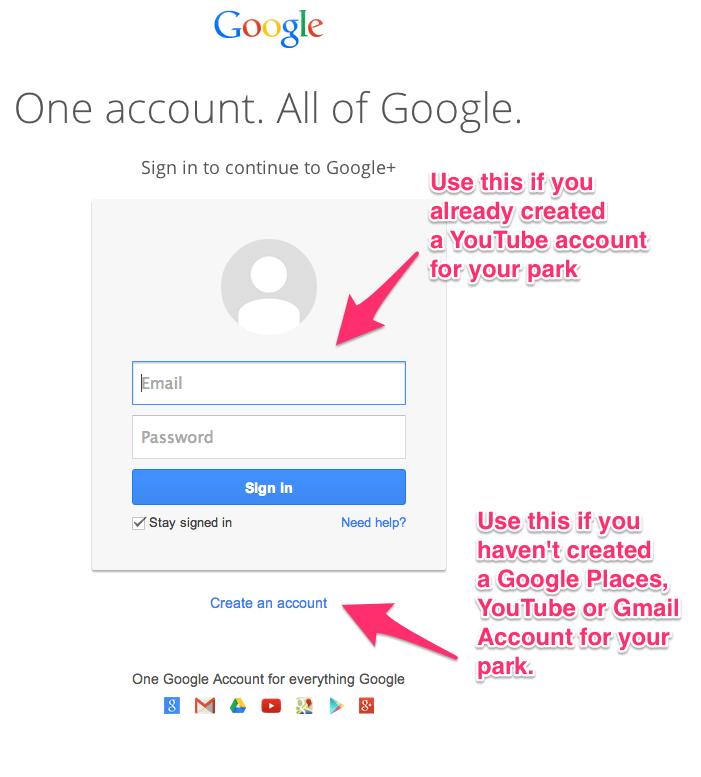 Setup Google Plus for RV Park