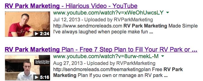 RV Park Marketing Videos