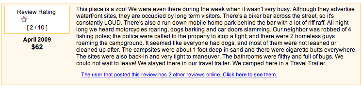Negative RV Park Review